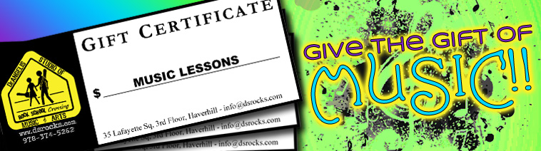 DeAngelis Gifts Certificates are the perfect gift for your music lover on any occasion! - DeAngelis Studio of Music, Haverhill, MA